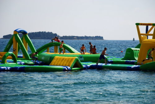 Aquapark at Bi Val beach