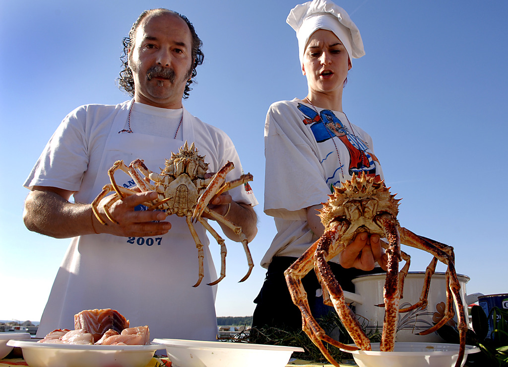 "SPIDER CRAB'S DISHES, ISTRIAN SAUSAGES AND BONELESS PORK LOIN (""OMBOLO"")"