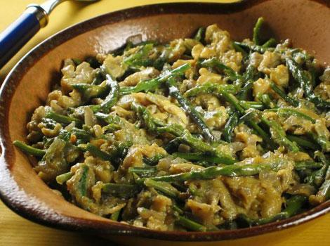 ASPARAGUS AND MUSSEL DISHES